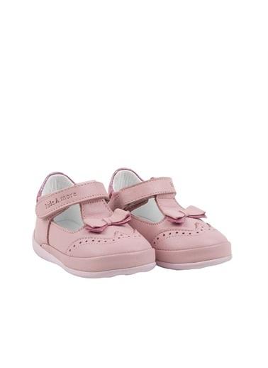 Kids A More Loretta Tek Cırtlı Deri Kız Ilk Adım Ayakkabısı  Pembe